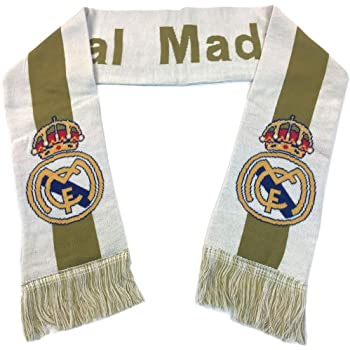 UHBHEA Real Madrid Scarf FC Double Sided Fan Knitted 2018-2019 Season Home Scarf White