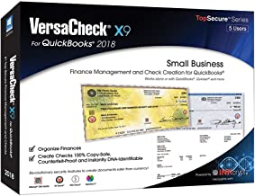 VersaCheck X9 2018 for QuickBooks - 5 Users - Finance & Check Creation Software