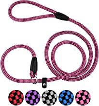 CollarDirect Rope Slip Dog Leash 6FT Heavy Duty Training Pet Lead for Small Medium Large Dogs Pink Grey Purple Red Blue Black