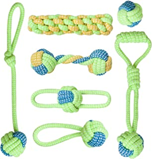 Ezonedeal Dog Rope Toys for Aggressive Chewers Tough Rope Chew Toys for Large and Medium Dog 3 Feet 5 Knots Indestructible...