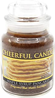 A Cheerful Giver 6oz Maple Syrup Pancakes Cheerful Jar Candle, Orange