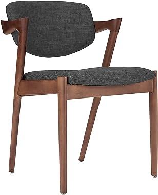 Matt Blatt Set of 2 Replica Kai Chair (Beech Stained Walnut Frame, Charcoal