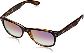 RAY-BAN RB2132 New Wayfarer Sunglasses, Tortoise/Violet Gradient, 55 mm