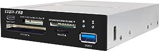EZDIY-FAB PC Front Panel Internal Card Reader USB HUB, USB 3.1 Gen2 Type-C Port,USB 3.0 Support SD MS XD CF TF Card for Co...