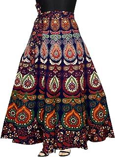 43df49bef0 Mudrika Women's Cotton Wrap Around Skirt with Elegant Print (SK_5299,  Multicolour, Free Size