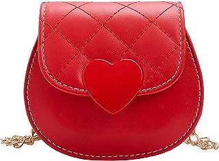 Little Girl's Cute Heart-shaped Snap Crossbody Purse Mini Shoulder Handbag for Toddlers Kids