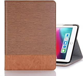 LFPING New Cross Texture Horizontal Flip PU Leather Case for iPad Pro 12.9 inch (2018), with Holder & Card Slots & Wallet (Color : Brown)