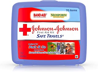 Johnson and Johnson Safe Travels 70-Item First Aid Kit - 24 per case.