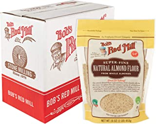 Bob's Red Mill Super-Fine Natural Almond Flour, 16-ounce (Resealable, Pack of 4)