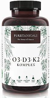 Omega 3 + Vitamina D3 + K2 MK7 All-Trans - Premium O3-D3-K2 Complejo Alta Dosis | Aceite