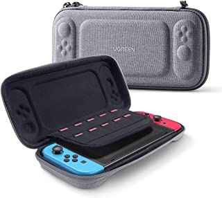 UGREEN Carry Case compatible for Nintendo Switch Storage Handle Cover Bag for NS, Ultra Slim Hard Shell with 10 Game Slots...