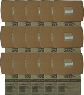 ZVac 15Pk Compatible Vacuum Bags Replacement for Oreck Buster B Vacuum Bags. Replaces Part# PKBB12DW & PKBB12OF. Fits Compacts BB-280, BB180 and MCV-160, Oreck Commercial XL Pro 5 Canister Vacuum BB9