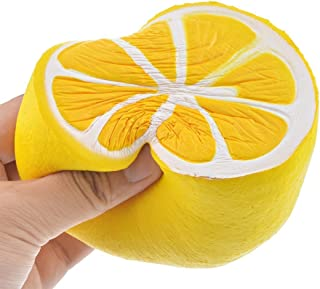Hemore Slow Rising Squishy Toy Jumbo Toys Squeeze Toys Stress Relief Toys Lemon 11Cm Yellow for