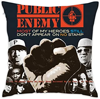 JIAYICENK Public Enemy Most of My Heroes Still Don't Appear On No Stamp Decorative Throw Pillow Covers Case Pillowcases 18x18 in
