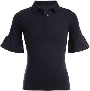 Nautica Junior's School Uniform Short Sleeve Woven TOP, su Navy, Medium 7/9