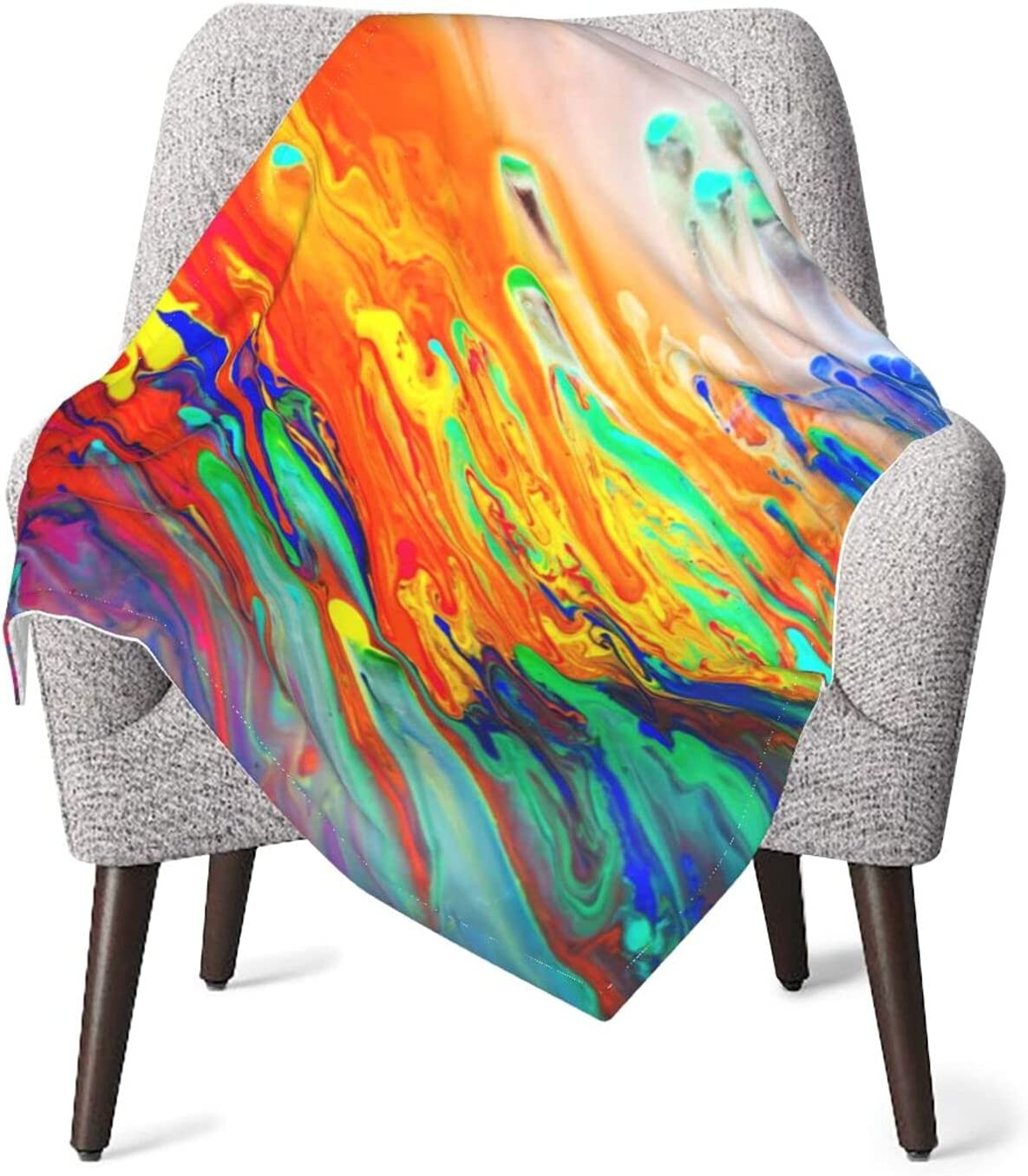JZDACH half Baby Essentials Throw and Over item handling Wate Receiving Colorful Tie Dye