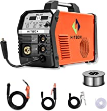 HITBOX MIG Welder 200Amp Inverter MIG ARC Lift TIG Gas Gasless 4 in 1 Multifunction MIG Welding Mahcine 220V Flux Cored Wi...