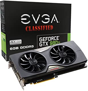 EVGA GeForce GTX 980 Ti 6GB GDDR5 GeForce GTX 980 Ti 6GB GDDR5 - Tarjeta gráfica (GeForce GTX 980 Ti, 6 GB, GDDR5, 384 bit, 3840 x 2160 Pixeles, PCI Express x16 3.0)