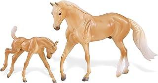 Breyer Freedom Series (Classics) Palomino Quarter Horse & Foal   2 Horse Set   Model Horse Toy   1: 12 Scale (Classics)   Model #62045