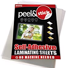 Pack of 24, Self-Adhesive Laminating Sheets, Clear Letter Size (9 x 12 Inches), 4 mil Thickness