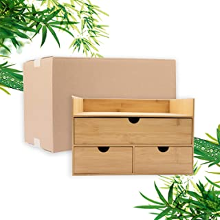 $29 » Bamboo 4 Drawers Desk Cosmetics Office Organizer Great for Home