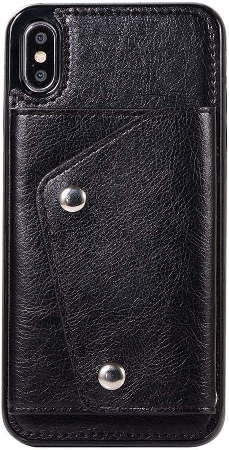Casely iPhone Xs Max Black All items free shipping Vegan Phone Leather - Wallet 1MM Cheap mail order shopping Case
