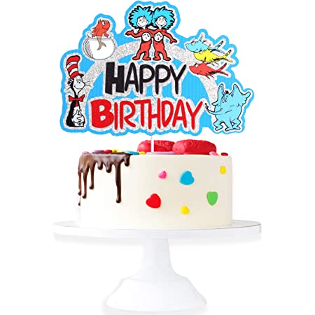 """10 Yards Happy Birthday Party Colorful Cake Balloons Blue Wired Ribbon 1 1//2/""""W"""