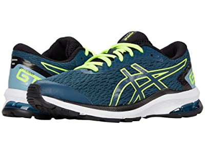 ASICS Kids GT-1000 9 (Little Kid/Big Kid) (Magnetic Blue/Safety Yellow) Boys Shoes