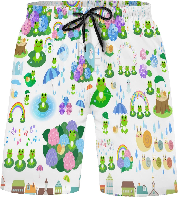 Cute Rainy Product Season Frog Rainbow Popular brand Boys Shorts Swim Trunks Bathing S