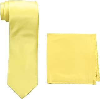 Men's Satin solid Tie Set
