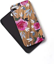 Watercolor Woodie Case for iPhone 7 Zebra Wood Gorgeous Floral Paint That Won't Scratch Off Durable Beautiful Designer Tech Candy