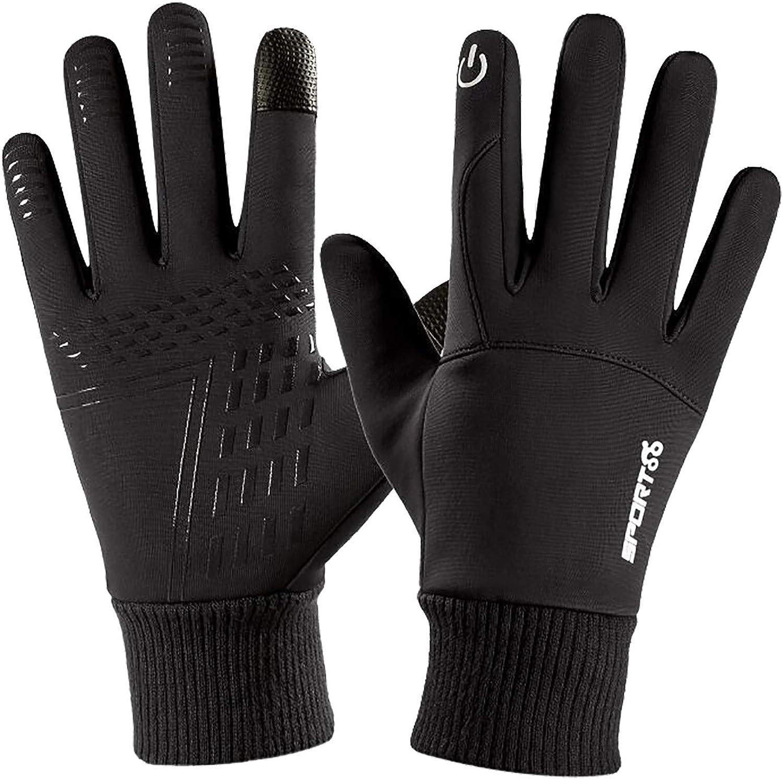 NUWFOR Unisex Touchscreen Warm Gloves Riding Ski Fleece Gloves Winter Mountaineering Windproof Waterproof