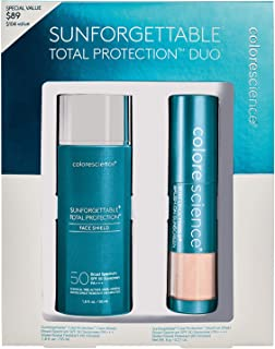 Colorescience Sunforgettable Total Protection Mineral Sunscreen Duo Kit - Face Shield SPF 50 & Brush-On Sunscreen SPF 50 in Medium Shade