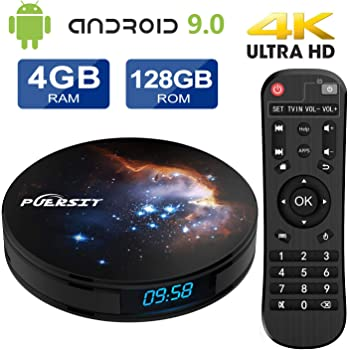 Android 9.0 TV Box RK3318 Quad Core, 4K Ultra HD h.265, HDMI, Wi-Fi Media Player Smart TV Box by puersit: Amazon.es: Electrónica