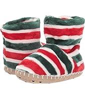 Holiday Stripe Fleece Slippers (Toddler/Little Kid)