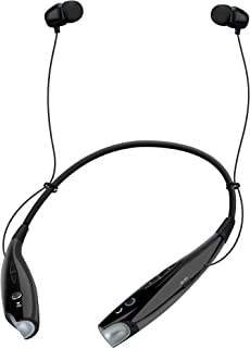 HyperGear Freedom BT100 Wireless Around The Neck Earphones With Noise Cancelling Microphone, Hands-free Music & Call Vibration From Any Bluetooth-enabled Device. For walking, Running, Gym & Reclining.