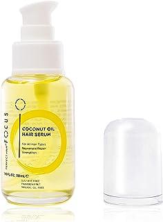 Perfect Hair - Suero para el cabello con aceite de coco y aceite de oliva virgen cruda, almendra dulce y queratina, aceite para el cabello rizado, seco y dañado, 1.7 fl oz (1 paquete)