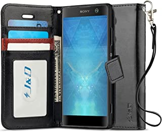 J&D J&D Case Compatible for Xperia XA2 Case, [Wallet Stand] [Slim Fit] Heavy Duty Protective Shock Resistant Flip Cover Wa...