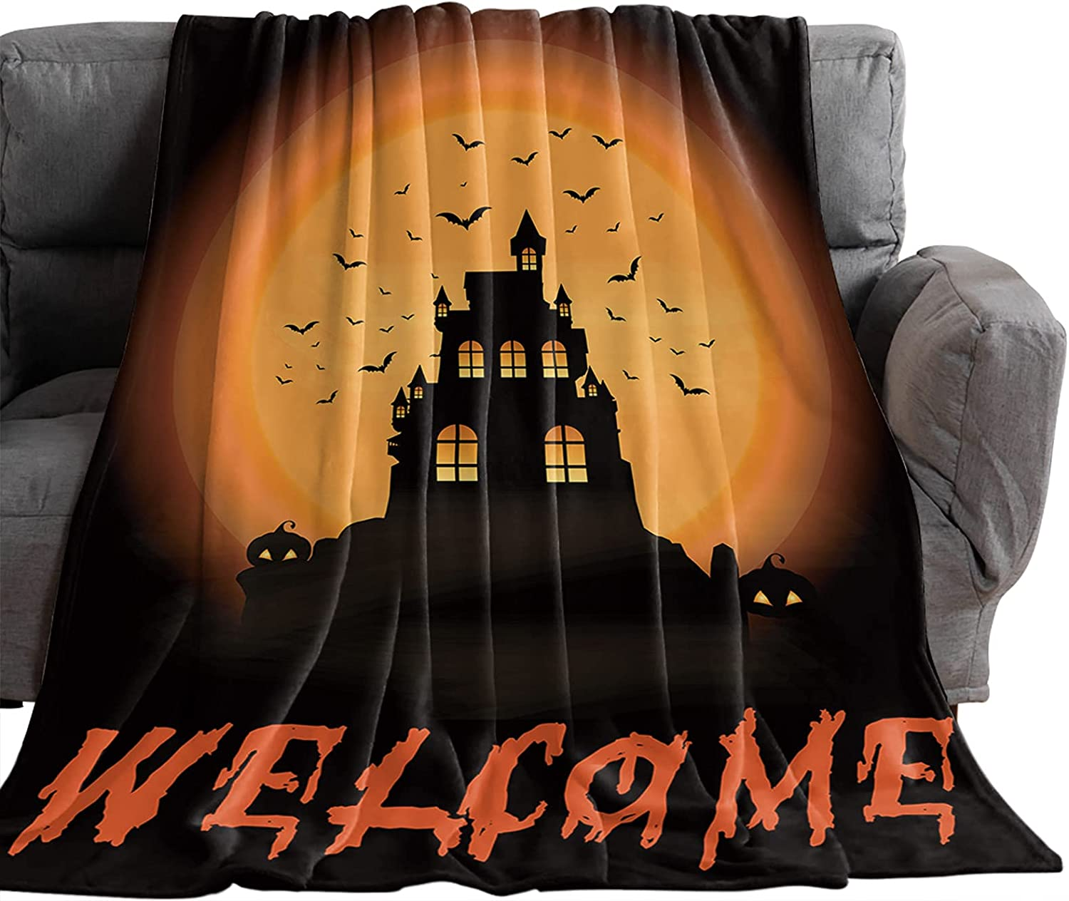 Pinkinco Import Horror Halloween Haunted Castle Bats Lux Blankets with Max 81% OFF
