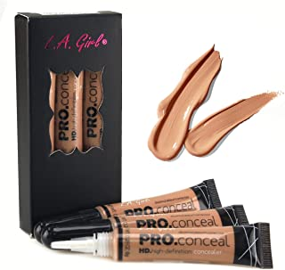 LA Girl HD Pro Conceal High Definition Concealer (Medium Bisque)(pack of 3)