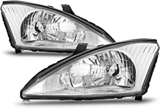 ACANII - For 2000-2004 Ford Focus Headlamps Headlights Replacement 00 01 02 03 04 Driver + Passenger Side