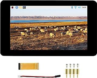 7 inch DSI LCD Display TFT Touch Screen 800×480 Monitor for Raspberry Pi 4B/3B+/3A+/3B/2B/B+/A+, Toughened Glass Capacitiv...