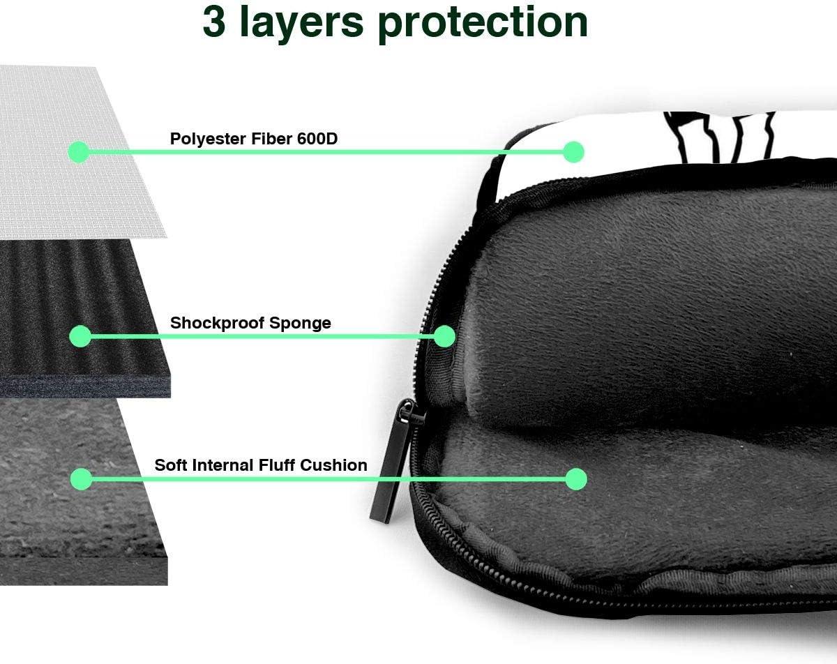 White and Black Cow Laptop Bag,Shoulder Case Laptop Sleeve Bag Briefcase