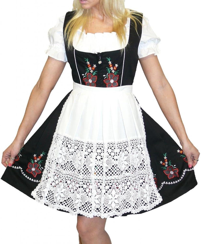Dirndl Trachten Haus 3Piece Short German Wear Party Oktoberfest Waitress Dress