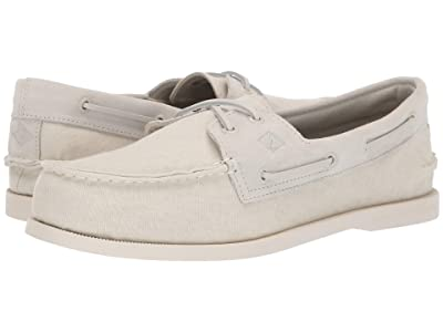 Sperry A/O 2-Eye Linen (Off-White) Men