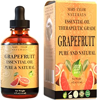 Grapefruit Essential Oil (4 oz), Therapeutic Grade for Stress Relief, Relaxation, Aromatherapy, Diffuser, Home by Mary Tyl...