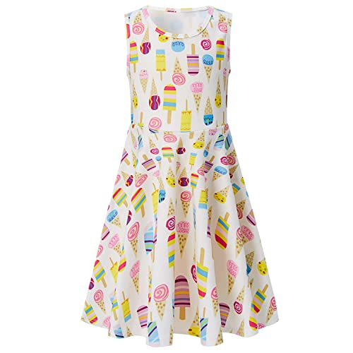 cdd4f15908 Leapparel Daughter s Pretty Cute Ruffles Skirts Lovely Print Fancy Summer  Dress for Happy Birthday Parties Teens