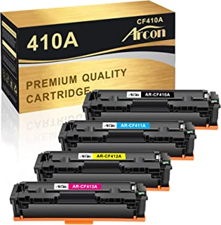 Best Arcon Compatible Toner Cartridge Replacement for HP 410A CF410A 410X uesd for HP Color Laserjet Pro MFP M477fnw M477fdw M477fdn M452dn M452dw M452nw Printer 410A 410X Toner (Black Cyan Yellow Magenta) Review