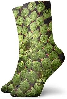 tyui7, Flor de pétalos verdes Hojas Calcetines de compresión antideslizantes de agua Calcetines deportivos acogedores de 30 cm para hombres, mujeres y niños