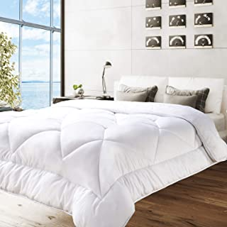 BedStory Down Alternative Comforter Queen Size - Bed Duvet Insert All Season Comforter Quilted with Ultra Soft Microfiber Fill (350 GSM)- Hypoallergenic & Machine Washable, White